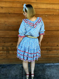 L/XL - Vintage 1970's Three Piece Peasant Outfit