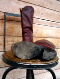 sole of vintage cowboy boots