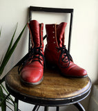 5B - Vintage Red Leather Justin Ropers