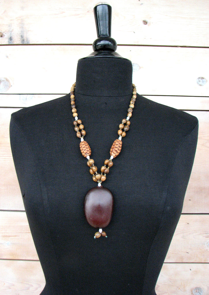 shop elephant ethnic wood on and necklace vintage wanelo wooden carved beads