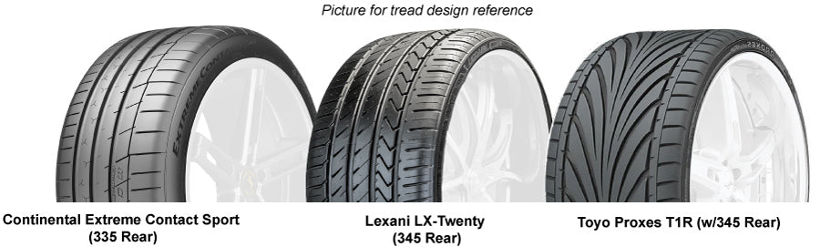 Slingshot 345 tires Lexani Continental Toyo T1R