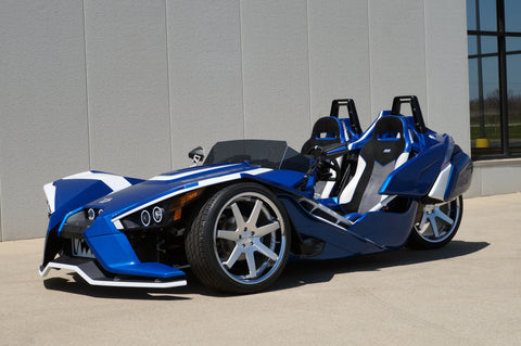 "Polaris Slingshot with 22"" custom wheels"