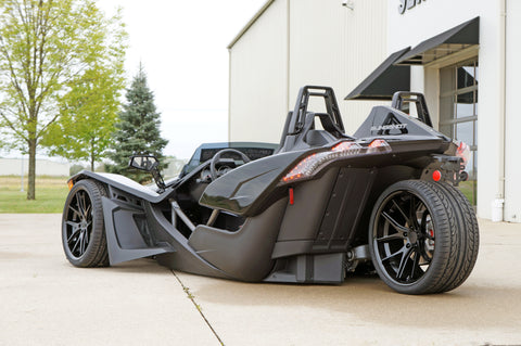 "Custom Slingshot with 20"" Ferrada Wheels and air ride"