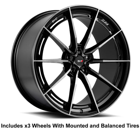 "Savini SV-F1 Slingshot 20x12"" Super Wide Rear (345 or 335) Wheel and Tire Package"