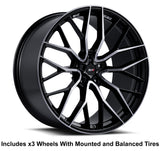 "Savini SV-F2 Slingshot 22"" Super Wide Rear (315 or 305) Wheel and Tire Package - Rev Dynamics"
