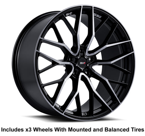 "Savini SV-F2 Slingshot 20"" Super Wide Rear (345 or 335) Wheel and Tire Package"