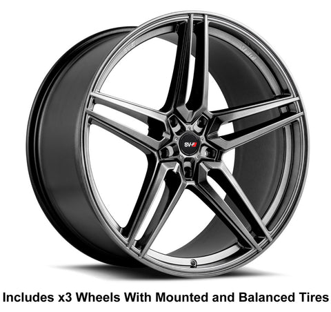 "Savini SV-F3 Slingshot 22"" Super Wide Rear (315 or 305) Wheel and Tire Package - Rev Dynamics"