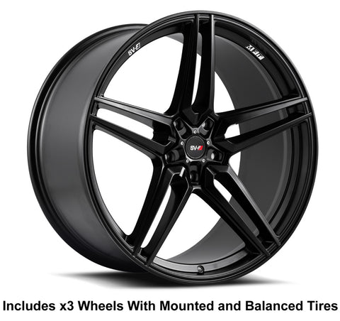 "Savini SV-F3 Slingshot 22"" Super Wide Rear (315 or 305) Wheel and Tire Package"