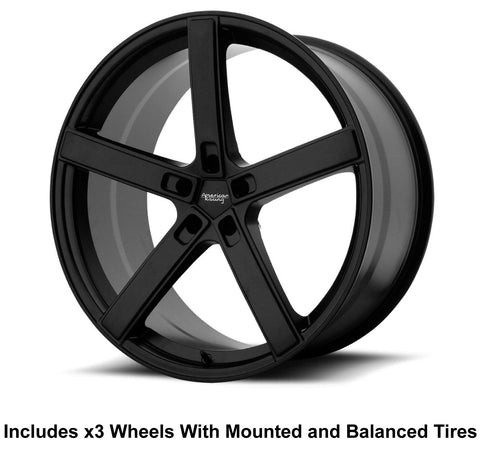 "American Racing Blockhead Slingshot 19"" Front 20"" Rear Wheel and Tire Package"