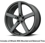 "American Racing Blockhead Slingshot 20"" Wheel and Tire Package - Rev Dynamics"