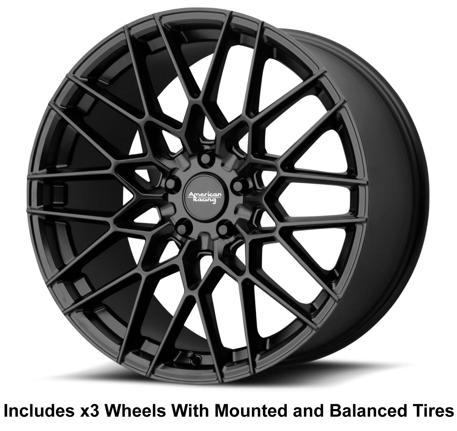 "American Racing Barrage Slingshot 19"" Front 20"" Rear Wheel and Tire Package - Rev Dynamics"