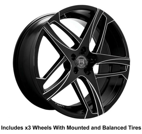 "Lexani Bavaria Slingshot 22"" Wheel and Tire Package - Rev Dynamics"