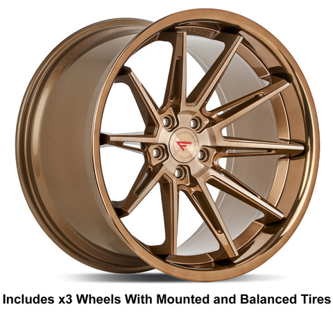 "Ferrada CM2 Slingshot 20"" Front 22"" Rear Wheel and Tire Package"