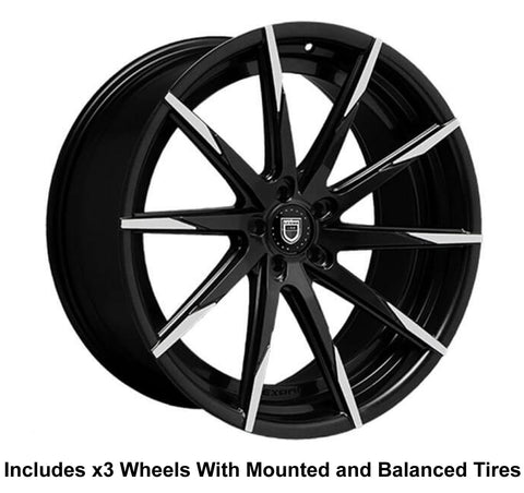 "Lexani CSS-15 Slingshot 22"" Front 24"" Rear Wheel and Tire Package - Rev Dynamics"