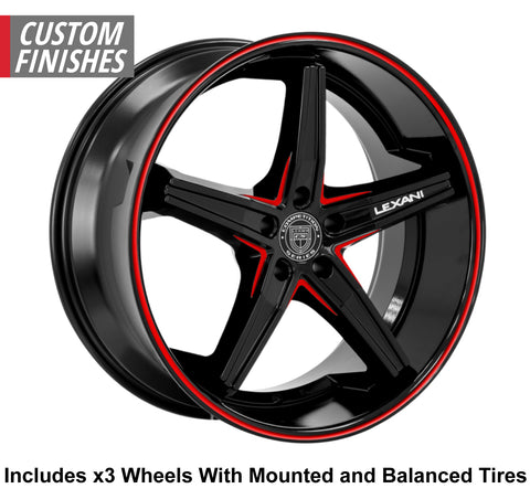 "Lexani Fiorano Slingshot 22"" Wheel and Tire Package"