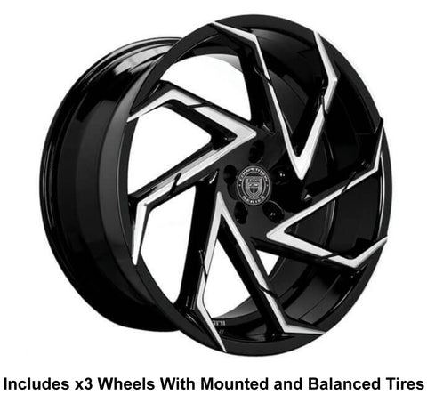 "Lexani Cyclone Slingshot 22"" Wheel and Tire Package"