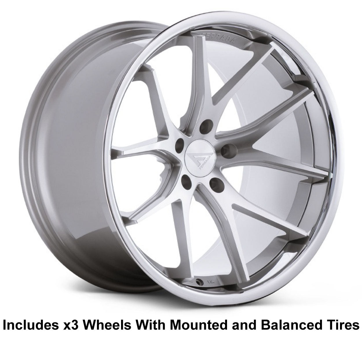 "Ferrada FR2 Slingshot 19"" Front 20"" Rear Wheel and Tire Package"