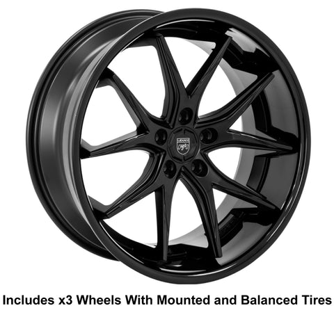 "Lexani R-12 Slingshot 22"" Wheel and Tire Package"