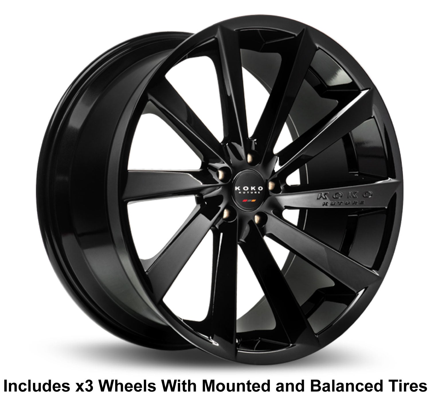 "Koko Kuture Kapan Slingshot 22"" Wheel and Tire Package"