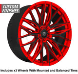 "Lexani Aries Slingshot 20"" Wheel and Tire Package"