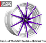 "Lexani CSS-15 Slingshot 22"" Wheel and Tire Package"