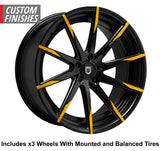 "Lexani CSS-15 Slingshot 22"" Wheel and Tire Package - Rev Dynamics"
