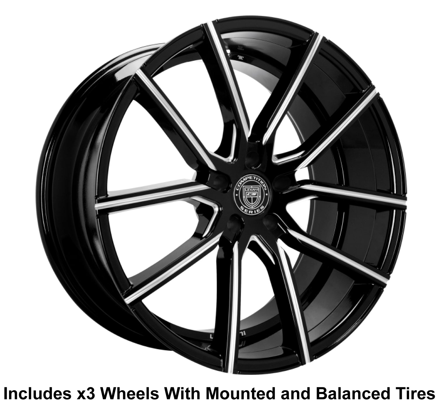 "Lexani Gravity Slingshot 22"" Wheel and Tire Package - Rev Dynamics"