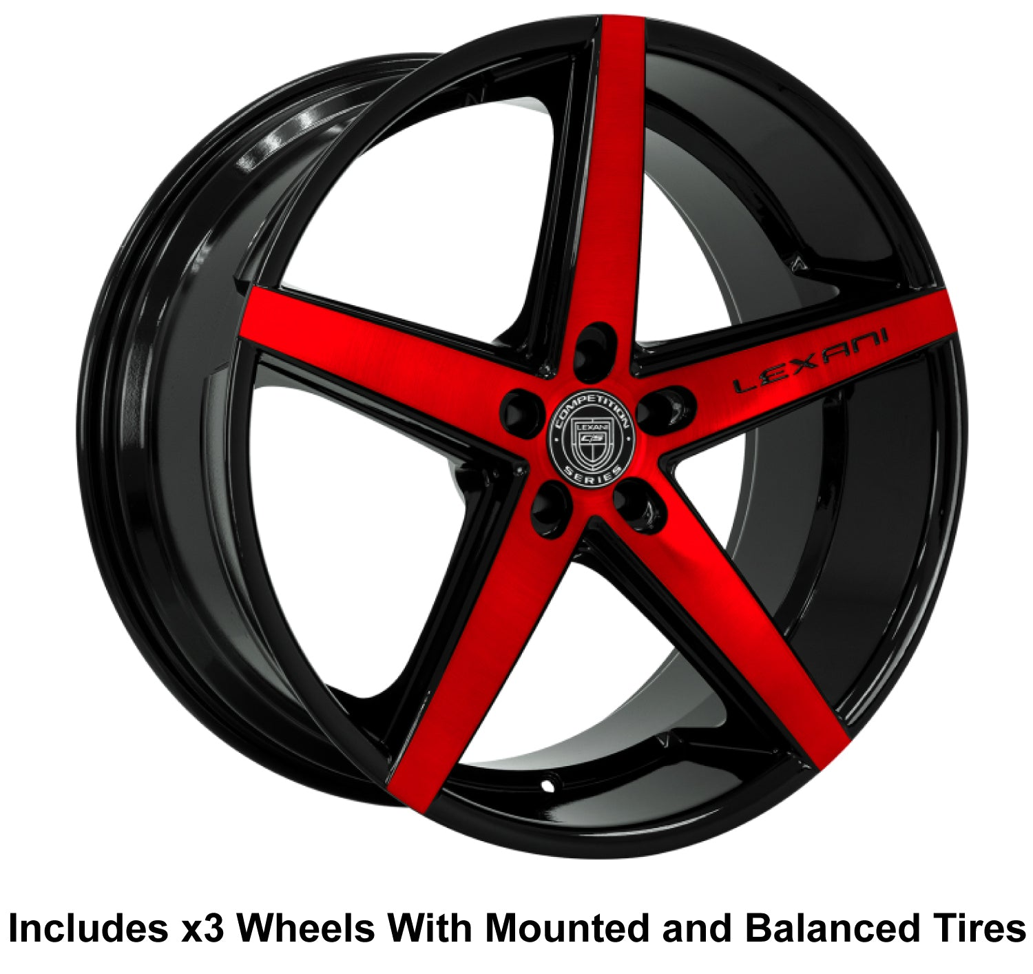 "Lexani R-4 Slingshot 22"" Wheel and Tire Package - Rev Dynamics"