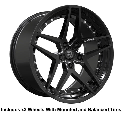 "Lexani Spike Slingshot 22"" Wheel and Tire Package - Rev Dynamics"