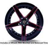 "Marquee m3226 Slingshot 20"" Wheel and Tire Package"