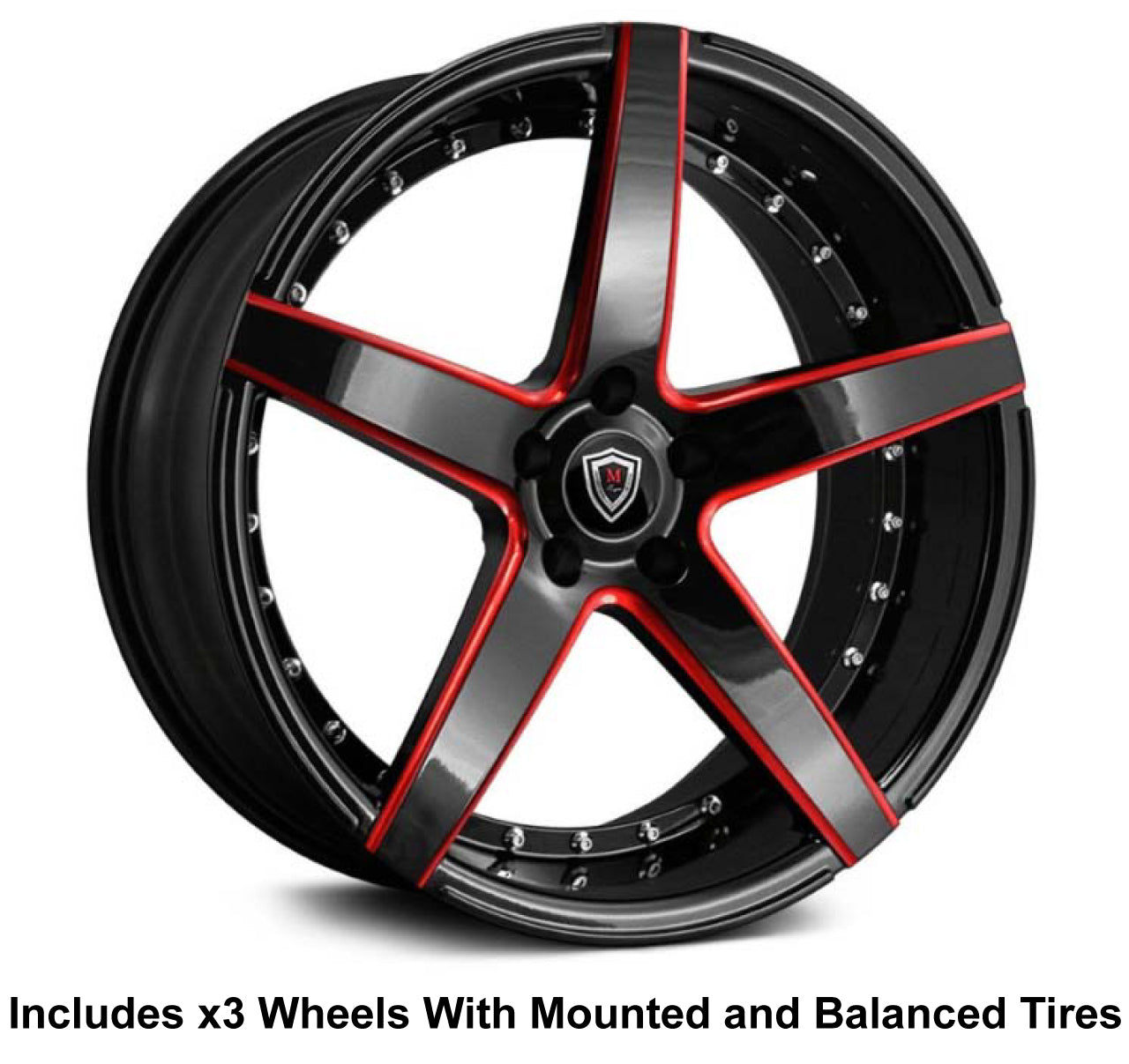 "Marquee m3226 Slingshot 20"" Wheel and Tire Package - Rev Dynamics"