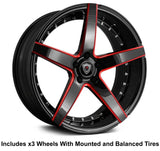 "Marquee m3226 Slingshot 20"" Front 22"" Rear Wheel and Tire Package - Rev Dynamics"