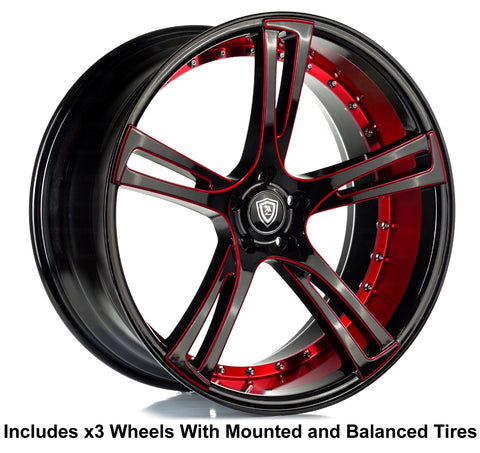 "Marquee m3247 Slingshot 22"" Wheel and Tire Package"