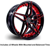 "Marquee m3259 Slingshot 22"" Wheel and Tire Package"