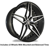 "Marquee m3259 Slingshot 22"" Wheel and Tire Package - Rev Dynamics"