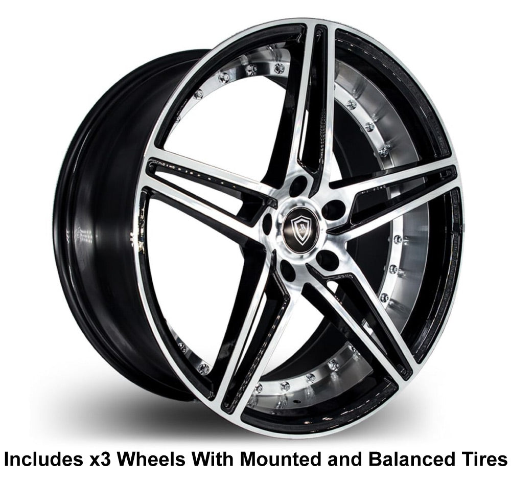 "Marquee m3258 Slingshot 20"" Wheel and Tire Package - Rev Dynamics"