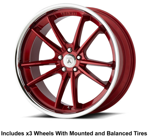 "Asanti ABL-23 Delta Slingshot 20"" Wheel and Tire Package"