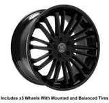 "Lexani Virage Slingshot 22"" Wheel and Tire Package - Rev Dynamics"