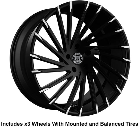 "Lexani Wraith Slingshot 22"" Front 24"" Rear Wheel and Tire Package - Rev Dynamics"