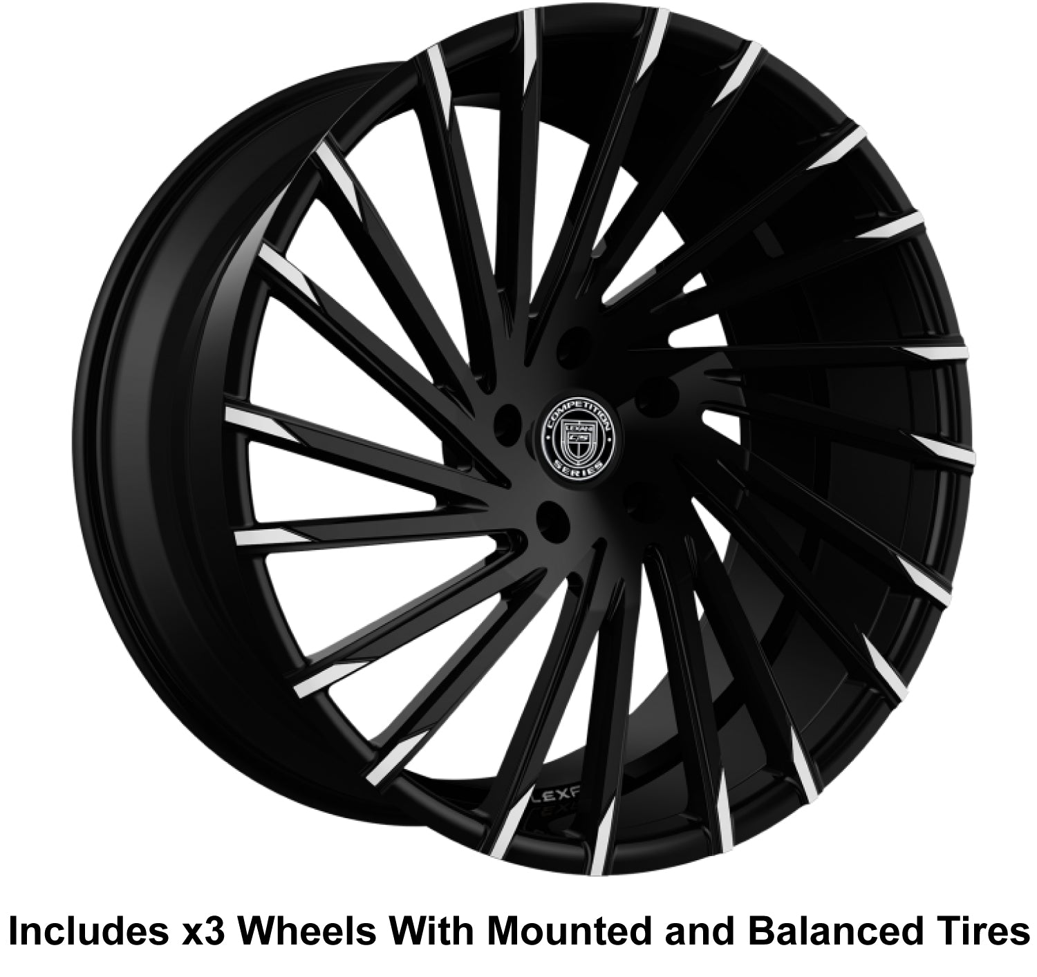 "Lexani Wraith 20"" Front 22"" Rear Wheel and Tire Package - Rev Dynamics"