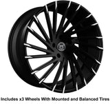 "Lexani Wraith Slingshot 22"" Wheel and Tire Package - Rev Dynamics"