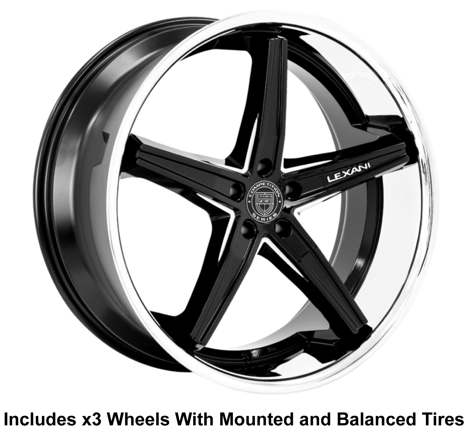 "Lexani Fiorano Slingshot 22"" Front 24"" Rear Wheel and Tire Package - Rev Dynamics"