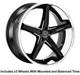 "Lexani Fiorano Slingshot 24"" Wheel and Tire Package - Rev Dynamics"