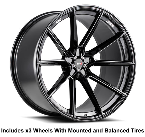 "Savini SV-F4 Slingshot 20"" Super Wide Rear (345 or 335) Wheel and Tire Package - Rev Dynamics"