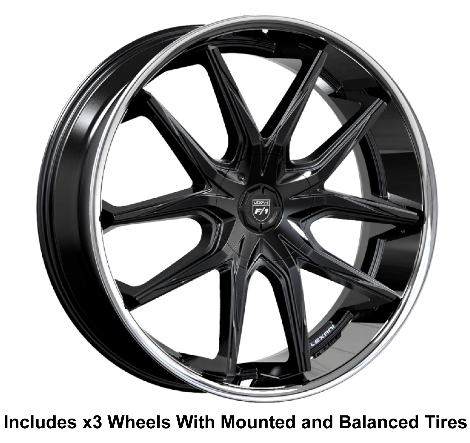 "Lexani R-12 Slingshot 24"" Wheel and Tire Package"