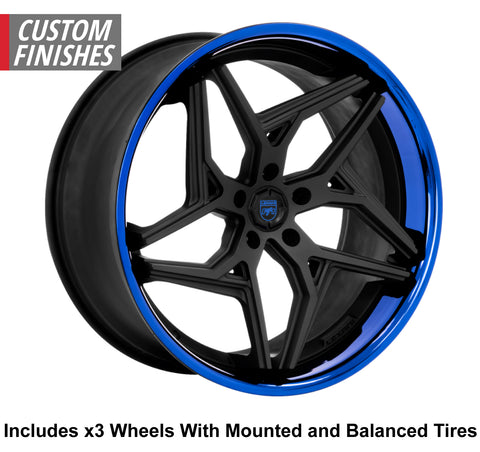 "Lexani Spyder Slingshot 20"" Front 22"" Rear Wheel and Tire Package"