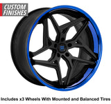 "Lexani Spyder Slingshot 22"" Wheel and Tire Package - Rev Dynamics"