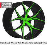 "Rohana RFX5 Slingshot 20"" Super Wide Rear (345 or 335) Wheel and Tire Package"