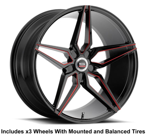 "Spec-1 Monotech SPM-81 Slingshot 22"" Wheel and Tire Package"