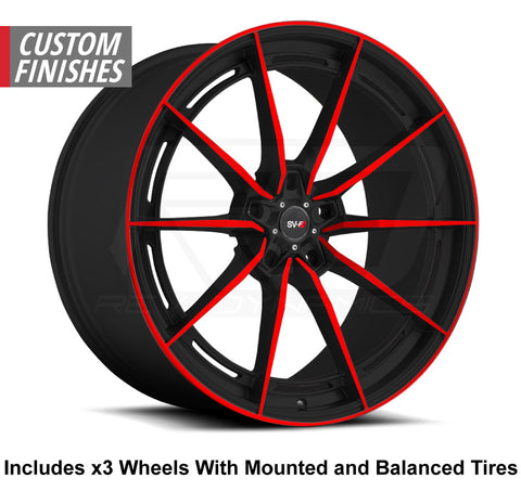 "Savini SV-F1 Slingshot 20"" Super Wide Rear (345 or 335) Wheel and Tire Package"
